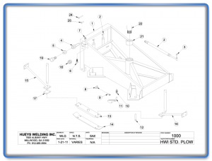 Plow Model 26-46 Standard Schematic