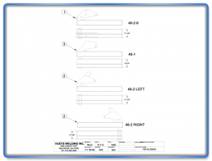 Wing Model 46-2 Standard Slider Assembly Schematic