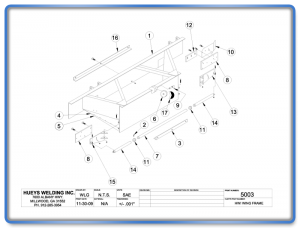 Wing Model 26 Frame Schematic